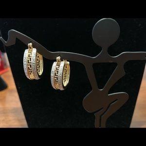 Earrings 14k gold over sterling silver